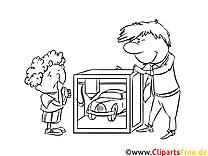 Malvorlage kostenlos 3D-Printer