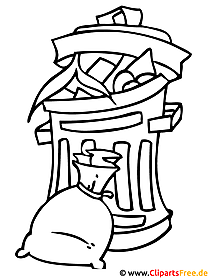 Mülltonne Bild - Ausmalbild gratis