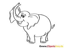 Ausmalbilder Elefanten - Malvorlagen Kostenlos zum Ausdrucken