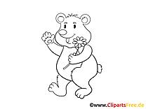 Bär, Bären Malvorlagen zum Ausmalen für Kinder