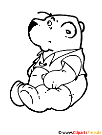 Teddybär Malvorlage kostenlos