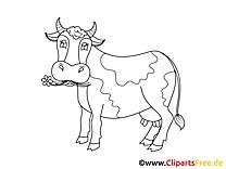 Darmowe kolorowanki online dla dzieci - Krowa