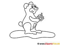 Einfaches Ausmalbild für kleine Kinder Bär