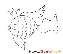 Goldfisch Ausmalbild zum Ausdrucken