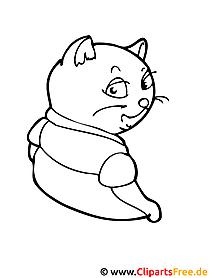 Katze Bild zum Ausmalen - Tiere Ausmalbilder