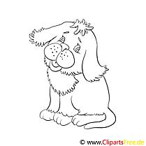 Niedlicher Hund Ausmalbilder für Kinder gratis