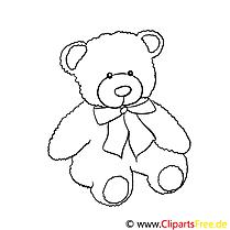 Schöner Teddy Bild zum Drucken und Ausmalen