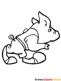 Schwein Ausmalbild - Tiere Ausmalbilder