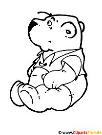 Teddy Malvorlage gratis