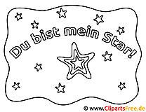 Du bist mein Stern Bild zum Ausmalen