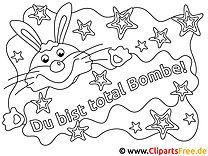 Du bist total Bombe Bild zum Ausmalen
