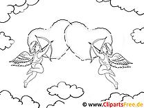 Engel Herzen Ausmalbilder Für Kinder Kostenlos Ausdrucken