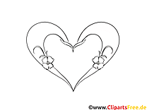 Herz-Bild zum Drucken und Malen