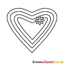 Herz Ausmalbild zum Ausmalen