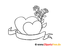 Herzen Blumen Liebe Malvorlagen und kostenlose Ausmalbilder
