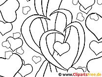 Herzen Valentinstag zum Ausmalen