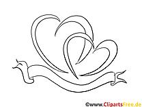 Herzen zum Drucken und Malen