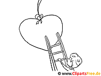Junge Herz Ausmalbilder für Kinder kostenlos ausdrucken