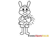 Kaninchen mit Herz Malvorlage zum Valentinstag