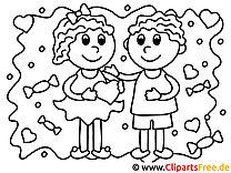 Liebe Valentinstag Ausmalbilder