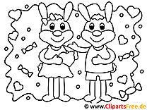 Liebespaar Valentinstag Malvorlagen und kostenlose Ausmalbilder