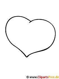 Malvorlage Herz