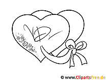 Valentinstag Zeichenvorlage zum Drucken