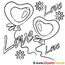 Wandschablonen zum Ausdrucken kostenlos - Liebe und Valentinstag