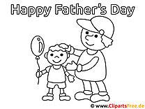 Alles Gute zum Vatertag Malvorlage