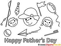 Arbeitsblatt Bild malen Vatertag