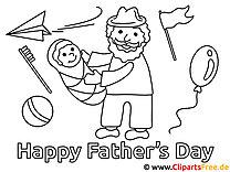 Arbeitsblatt zum Vatertag zum Ausmalen