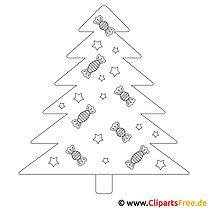Ausmalbild Weihnachten Tannenbaum