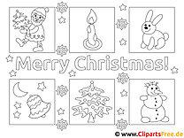 Bilder zu Weihnachten zum Malen