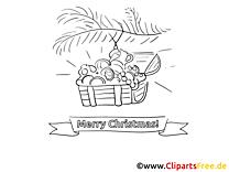Geschenke zu Weihnachten Malvorlagen