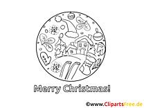 Gratis Weihnachtsmalvorlage drucken