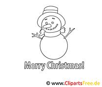 Malbilder zum Ausdrucken Winter, Schnee, Weihnachten