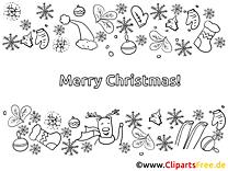Merry Christmas Ausmalbilder