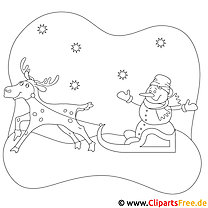 Rentier Malvorlage zu Weihnachten