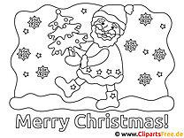 Santa Malvorlage - Schulbilder zum Ausmalen