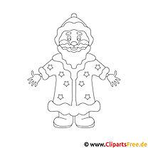 Väterchen Frost Bild - Malvorlage zu Silvester