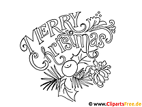 Weihnachts Bild Merry Christmas