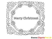 Weihnachtskranz zum Ausmalen