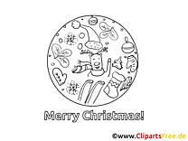 Weihnachtsmalvorlage kostenlos