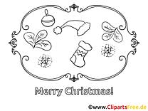 Weihnachtsmotiv zum Ausmalen gratis