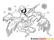 Bild zum Ausmalen Vogel