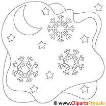 Malvorlagen Winter und Schnee