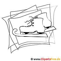 Schlittschuhe Bild - Winter Malvorlagen gratis