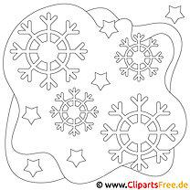 Schneeschnuppen Bild, Malvorlage, Ausmalbild