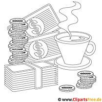 Banking Bild zum Ausmalen, Vorlage, Ausmalbild