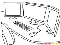 Börse Computer Bilder zum Ausmalen